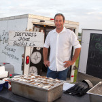 Josh Clauss, whose parents volunteered for the theater for over 30 years, provided a raw bar at the event.
