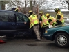 Car crash on Sound Avenue in Mattituck, Jan. 23